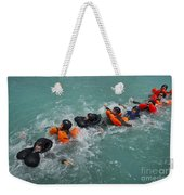 Group Swimming Technique During A Water Weekender Tote Bag