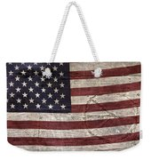 Grungy Textured Usa Peace Sign Flag Weekender Tote Bag