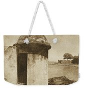 Guard Post Castillo San Felipe Del Morro San Juan Puerto Rico Vintage Weekender Tote Bag by Shawn O'Brien