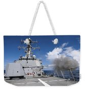 Guided-missile Destroyer Uss Pinckney Weekender Tote Bag