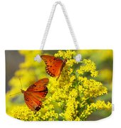 Gulf Fritilaries On Golden Rod Weekender Tote Bag
