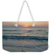 Gulls At Sunset On The Gulf Weekender Tote Bag