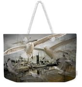 Gulls In The Harbor Weekender Tote Bag
