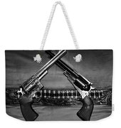 Guns In Black And White Weekender Tote Bag