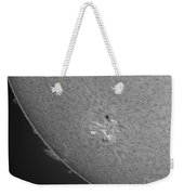 H-alpha Sun With Sunspots And Solar Weekender Tote Bag