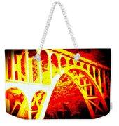 Haceta Head Bridge In Abstract Weekender Tote Bag