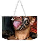 Haka Dancer In Queenstown Weekender Tote Bag