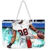 Hakeem Nicks - Sports - Football Weekender Tote Bag by Paul Ward