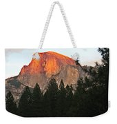 Half Dome Alpenglow Weekender Tote Bag