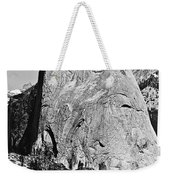 Half Dome Black And White Weekender Tote Bag