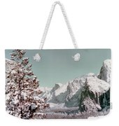 Half Dome In The Snow Weekender Tote Bag
