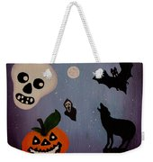 Halloween Night Original Acrylic Painting Placemat Weekender Tote Bag