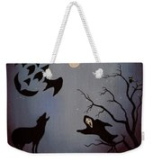 Halloween Night Party Original Painting Placemat Doormat Weekender Tote Bag