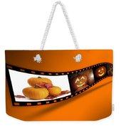 Halloween Pumpkin Film Strip Weekender Tote Bag by Amanda Elwell