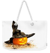 Halloween Pumpkin With Witches Hat Weekender Tote Bag