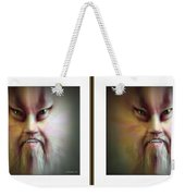 Halloween Self Portrait - Gently Cross Your Eyes And Focus On The Middle Image Weekender Tote Bag