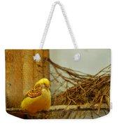 Halloween Yellow Bird Weekender Tote Bag