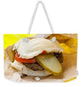 Hamburger With Pickle And Tomato Weekender Tote Bag