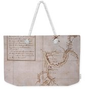 Hand Drawn Map By G. Washington Weekender Tote Bag
