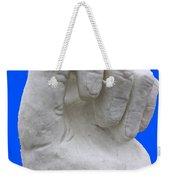 Hand In Snow Weekender Tote Bag