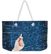 Hand Writing Science Formulas Weekender Tote Bag by Setsiri Silapasuwanchai