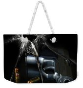 Handgun Bullets And Bullet Hole Weekender Tote Bag