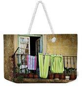 Hanged Clothes Weekender Tote Bag by Carlos Caetano