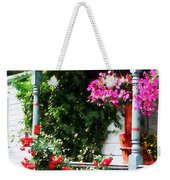Hanging Baskets And Climbing Roses Weekender Tote Bag