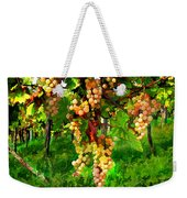 Hanging Grapes On The Vine Weekender Tote Bag by Elaine Plesser