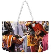 Hannibal Discovers The Grisly Fate Of His Brother Hasdrubal Weekender Tote Bag