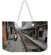 Hanoi Train Tracks Weekender Tote Bag