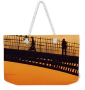 Hapenny Bridge, Dublin, Co Dublin Weekender Tote Bag