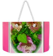 Happy Birthday Card - Foxgloves Weekender Tote Bag