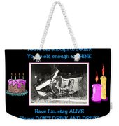 Happy Birthday Card Weekender Tote Bag