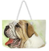 Happy Bulldog Weekender Tote Bag