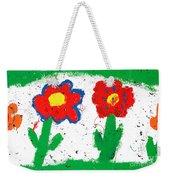 Happy Colorful Flowers Weekender Tote Bag