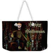 Happy Halloween Skeleton Greeting Card Weekender Tote Bag
