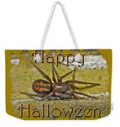 Happy Halloween Spider Greeting Card Weekender Tote Bag