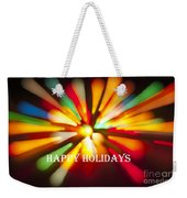 Happy Holidays Card Weekender Tote Bag