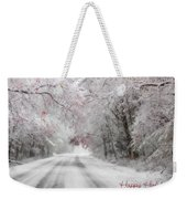 Happy Holidays - Clarks Valley Weekender Tote Bag by Lori Deiter