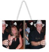 Happy New Year - Gently Cross Your Eyes And Focus On The Middle Image That Appears Weekender Tote Bag by Brian Wallace
