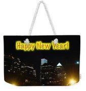 Happy New Year Greeting Card - Philadelphia At Night Weekender Tote Bag