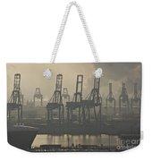 Harbor Cranes Weekender Tote Bag