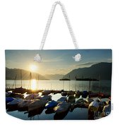 Harbor In Sunrise Weekender Tote Bag