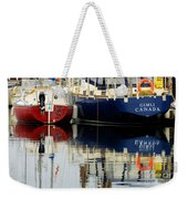 Harbor Reflections  Weekender Tote Bag by Bob Christopher