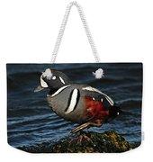 Harlequin Duck Weekender Tote Bag