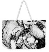 Harlow Black And White Weekender Tote Bag