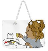 Harper Eating Weekender Tote Bag