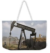 Harvestors Trash Fields While Black Weekender Tote Bag