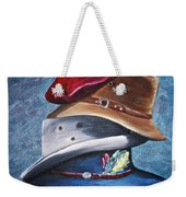 Hat Stack Weekender Tote Bag